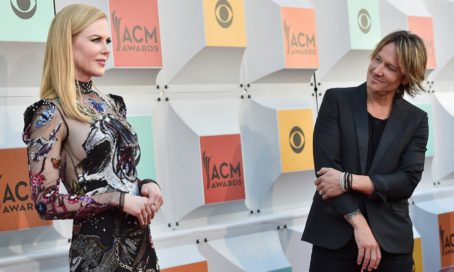 Keith Urban couldn't take his eyes off Nicole Kidman as she worked the carpet at the 2016 Academy of Country Music Awards in Las Vegas, Nevada. 