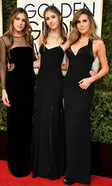 Miss Golden Globes 2017 Sistine, Scarlet and Sophia Stallone