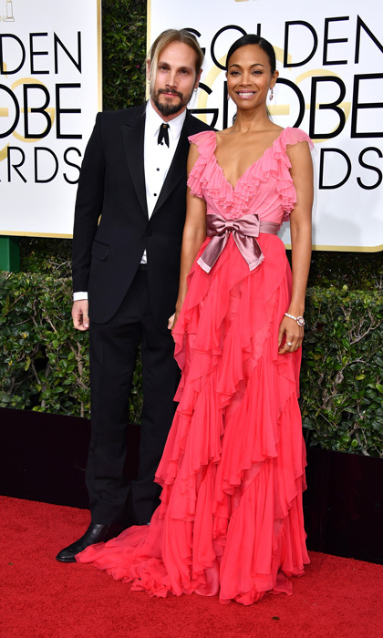 Marco Perego and Zoe Saldana 