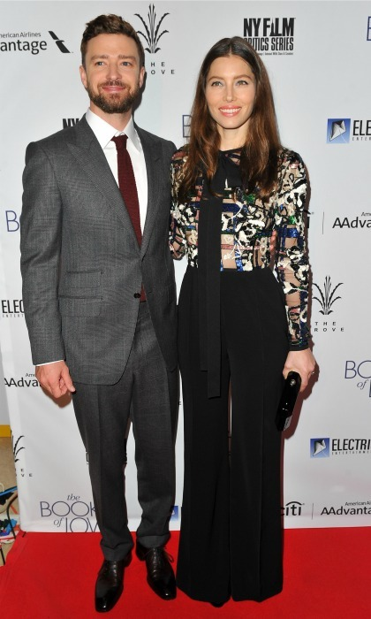 January 10: Jessica Biel and Justin Timberlake did date night in style during the Los Angeles premiere of <i>Book of Love</i>.