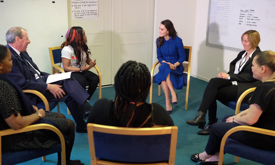 Prince George's mom, who is a patron of the center, visited the Early Years Parenting Unit to learn more about their work with families with children under age five.