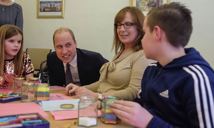William, who lost his mother Princess Diana as a child, also participated in the 'Memory Jar' exercise during the support group session.