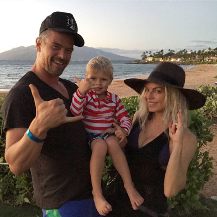 "Josh Duhamel and Fergie were hanging ten with their son  Axl as they celebrated their eighth wedding anniversary with a family trip to the beach. Sharing a picture from the outing, the actor wrote, ""8 years!! Love you babe.""