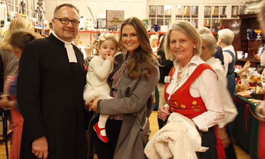 The Princess got into the holiday spirit with her mom attending the opening of the Swedish Church in London Christmas Market. 