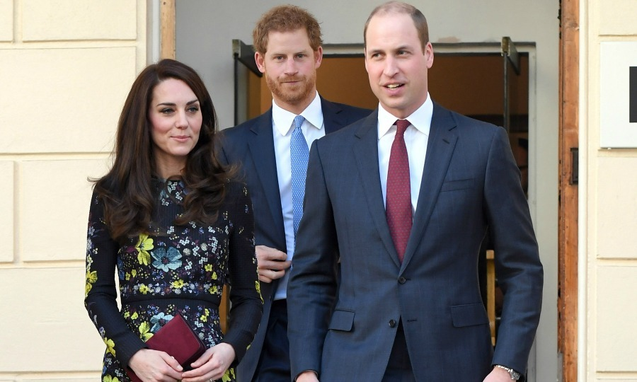 Back to work! The royal trio, Prince William, Kate Middleton, and Prince Harry attended the briefing announcing upcoming plans for their Heads Together organization at the Institute of Contemporary Art in London. 