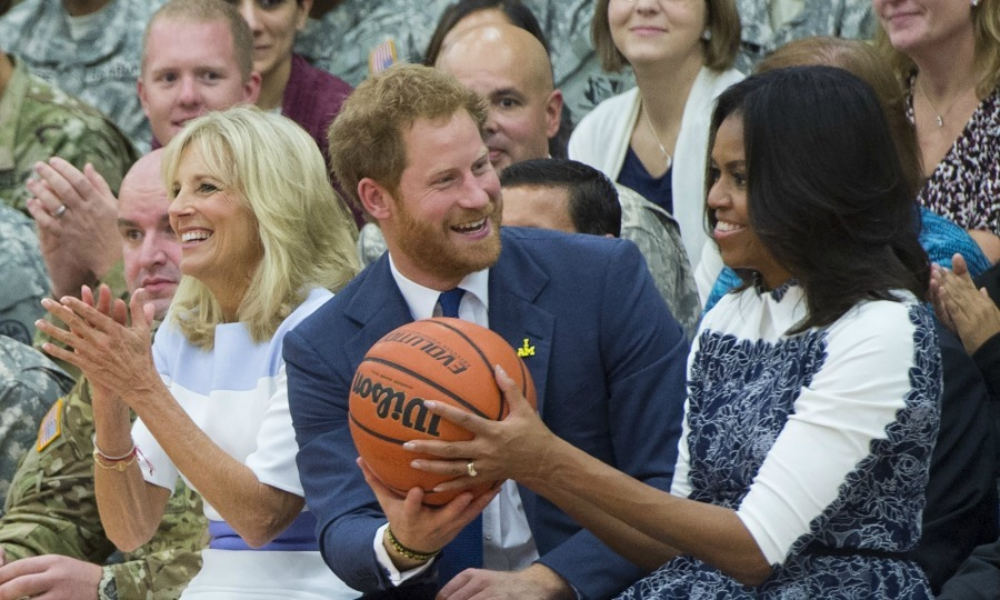 Harry and Michelle had a ball during his trip to the nation's capital where he discussed his Invictus Games coming to Orlando.