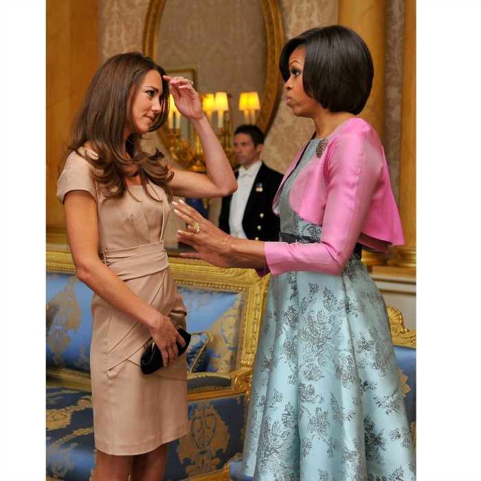 Michelle and Kate chatted it up (in style) ahead of a special lunch. The luncheon was the first time the royal couple met America's first couple. 