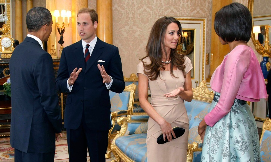 For their first act of royal duties as husband and wife, Prince William and Kate Middleton attended a special lunch held during POTUS and FLOTUS' two day visit.