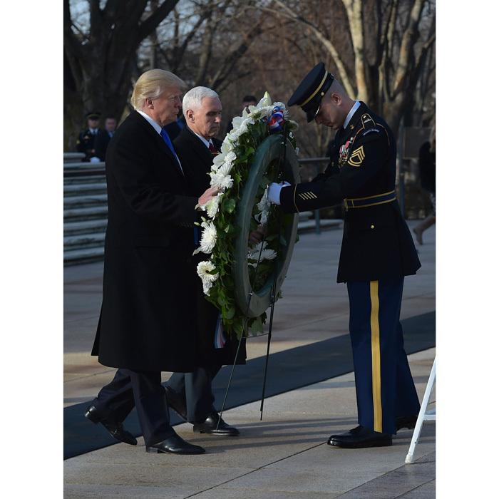 Donald and Mike placed a wreath at the Tomb of the Unknown Soldier.
