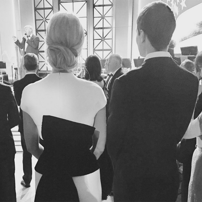 Ivanka shared a photo of herself and husband Jared in the audience looking on as her dad spoke to the supportive crowd.