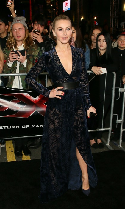 January 19: Julianne Hough made a fashionable appearance in Zuhair Murad during the premiere of <i>xXx: Return Of Xander Cage</i> in Hollywood. 