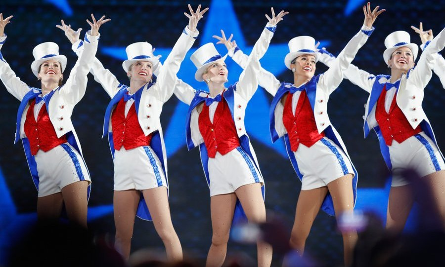 Performers at the Freedom Ball included New York City's famed Rockettes.