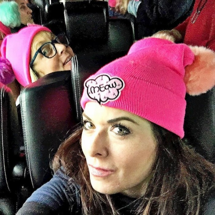 "Debra Messing was ready to get to Washington.  The actress shared a photo writing: ""ROADTRIP to D.C.! #womensmarch2017""