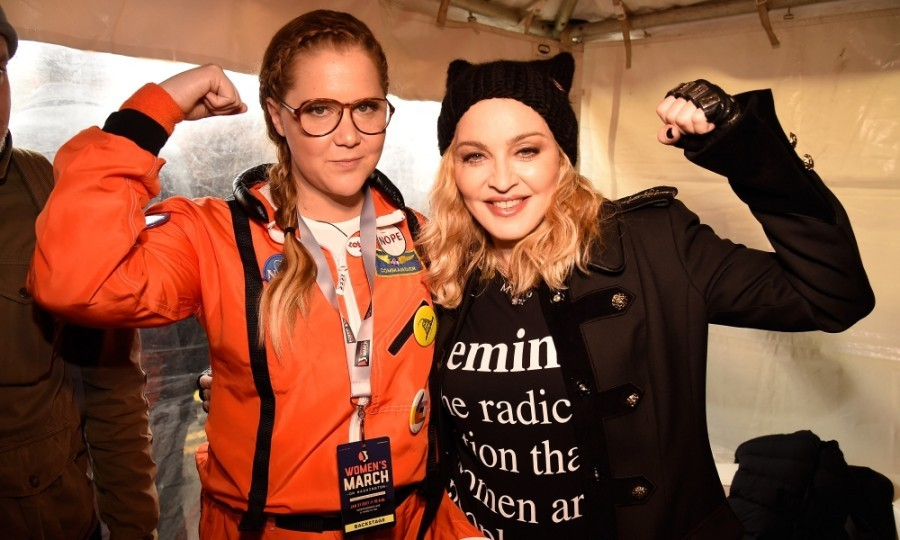 Amy Schumer and Madonna united at the rally at the Women's March on Washington in D.C. 