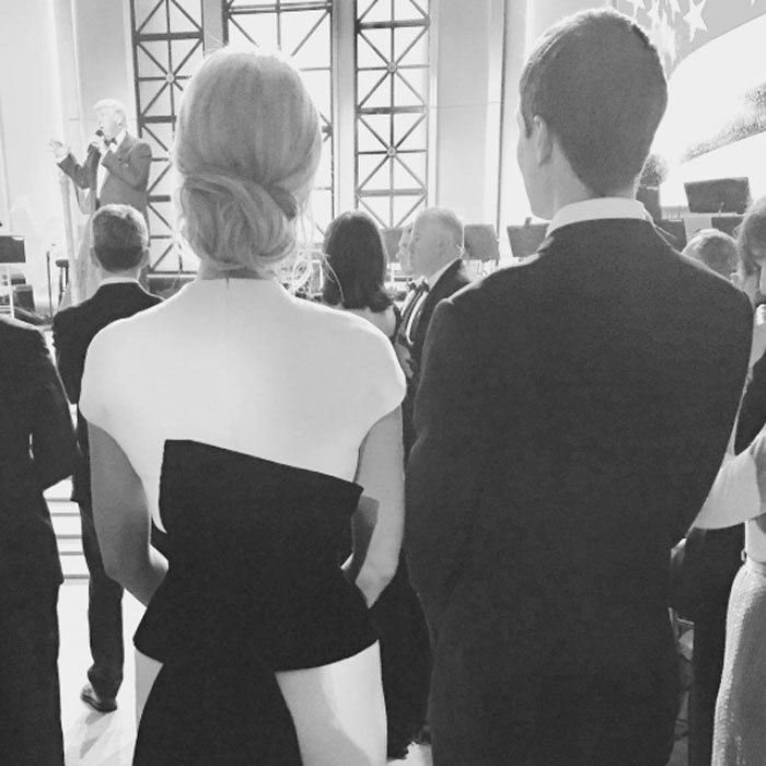 Ivanka and Jared looked on at her father as he delivered remarks at a candlelight dinner at DC's Union Station.
