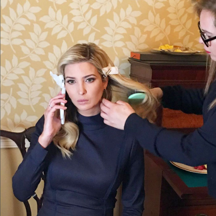 Ivanka got inauguration ready at Blair House thanks to hair and makeup artist Alexa Rodulfo.