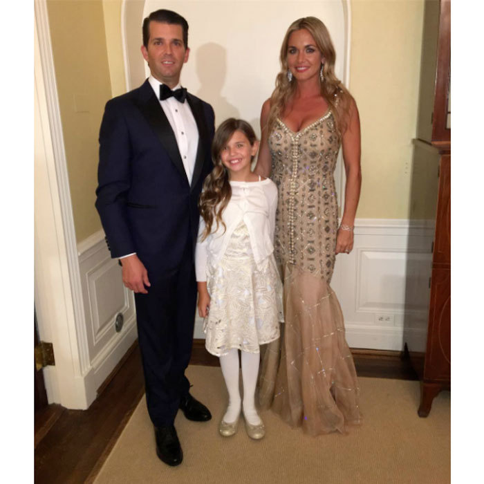 Donald Jr. had two beautiful dates for the inaugural balls. The dad-of-five was joined by his wife Vanessa and their oldest daughter Kai for the night of festivities.