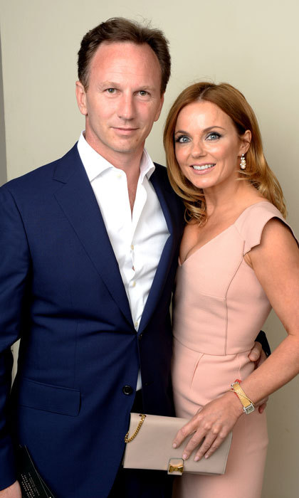 <b>Christian Horner and Geri Halliwell</b>
