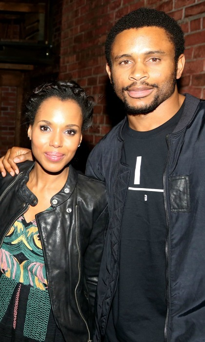 <b>Kerry Washington and Nnamdi Asomugha</b> 