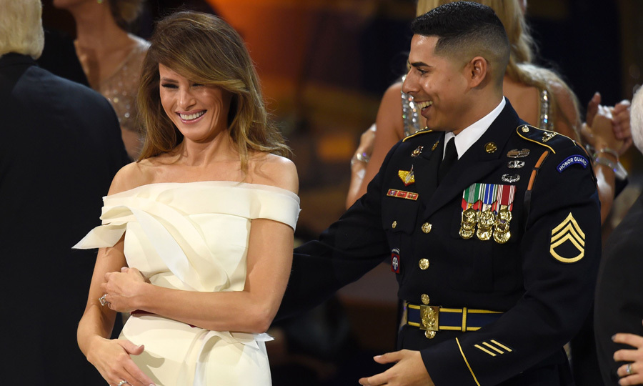 Soldier who danced with first lady melania trump at