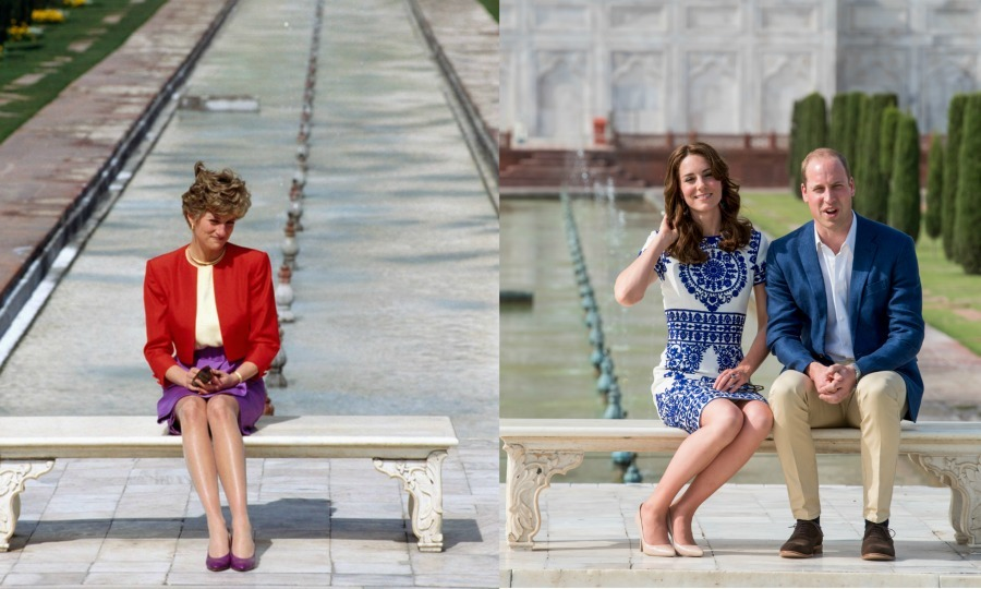 In April of 2016, Prince William and Kate Middleton sat on the same bench in front of the Taj Mahal as Princess Diana. The Duke and Duchess recreated the photo Diana took in 1992. After their visit, the Prince was seen getting emotional as he left the site where his mother posed for one of her more iconic photos. 