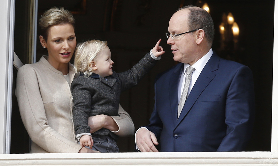 Jacques played with his father Prince Albert during the Sainte-Devote festivities in Monaco.