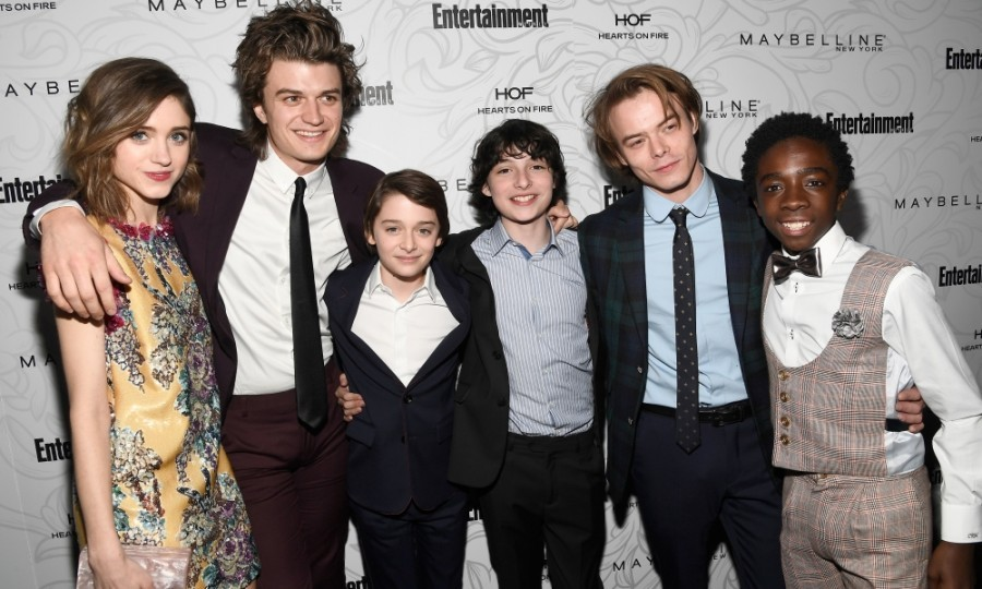 January 28: Things got 'strange' on the EW carpet when Natalia Dyer, Joe Keery, Noah Schnapp, Finn Wolfhard, Matthew Modine, Charlie Heaton and Caleb McLaughlin walked before the celebration of SAG Award Nominees in L.A. 