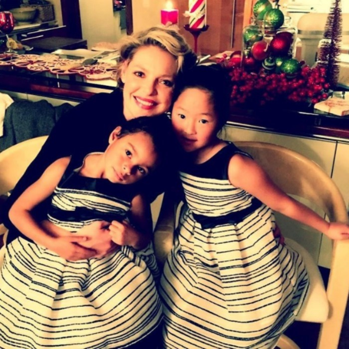 Katherine and her little ladies got into the New Year's Eve spirit with matching dresses. 