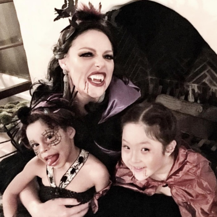 Katherine and her girls showed off their Halloween spirit.  