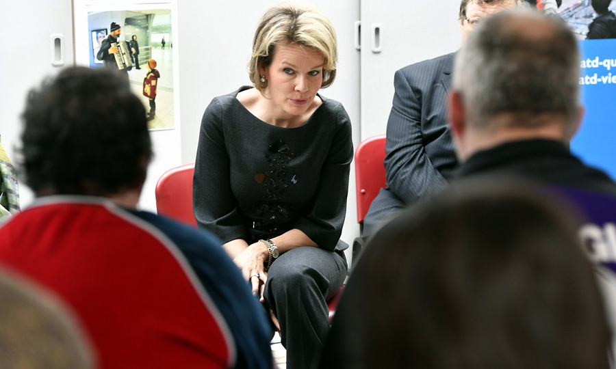Queen Mathilde of Belgium paid a visit to the association ATD Fourth World-Belgium, which fights against poverty and rights of the world's most excluded populations, in Brussels.