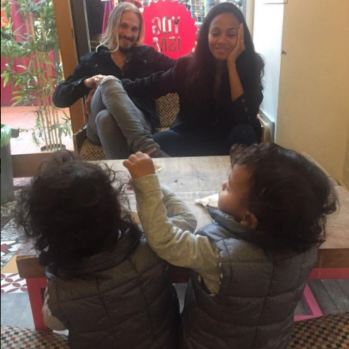 "<b><a href=""https://us.hellomagazine.com/tags/1/zoe-saldana""><strong>Zoe Saldana</strong></a></b> and Marco Perego