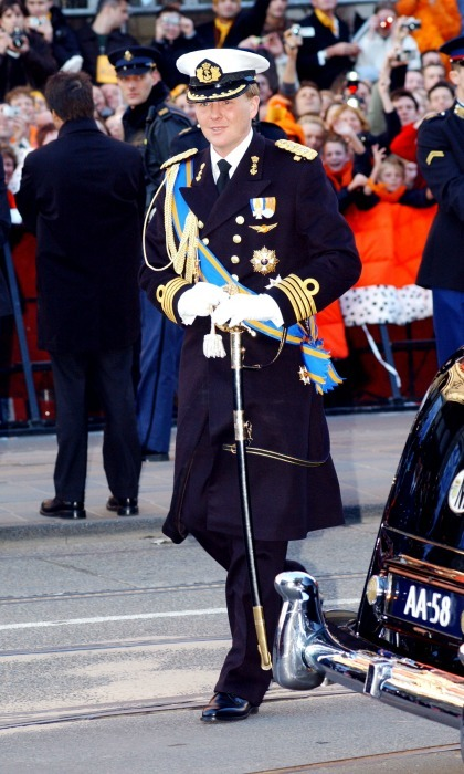 "Willem made his way into the Nieuwe Kerk in Amsterdam church in Holland before officially saying ""I do"" to his bride. 