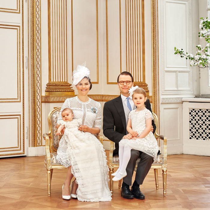 Crown Princess Victoria and Prince Daniel's young children were dressed sharp and well-behaved for the May 2016 christening of Prince Oscar.