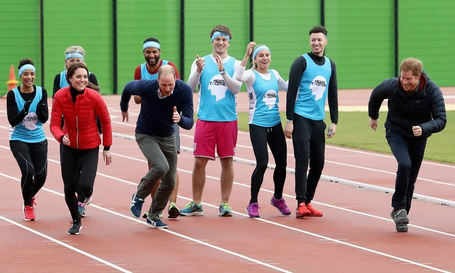 Kate and William were no match for Prince Harry when it came down to a foot race during the Team Heads Together marathon training day. Although the Duchess came in last place, she gave the quick sprint her all and cheerfully supported the rest of her team. 