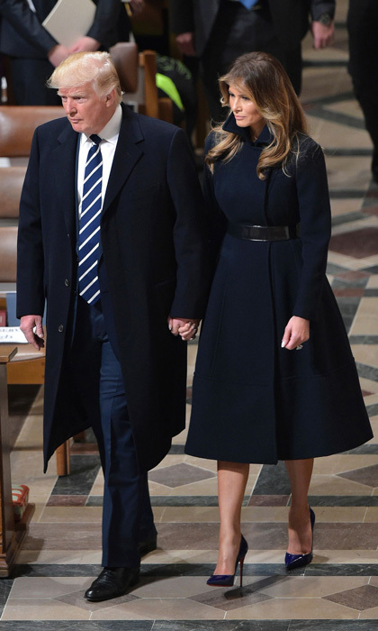 "On January 21, the day after her husband's presidential inauguration, Melania stepped out to the National Prayer Service sporting an understated cashmere coat, which was a collaboration between herself and Alice Roi. ""She definitely knew what she wanted. She knows clothing well and she's very direct. She has a wonderful, chic sense of style. That's something no matter what you put on her she kind of exudes. It's very guiding for the designer because you know exactly what to do to get in line with her right away,"" Alice told WWD.