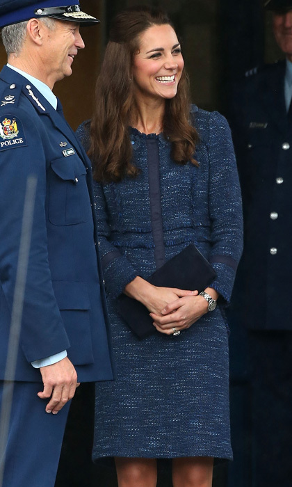 Prince William's wife looked effortlessly stylish donning a  Rebecca Taylor tweed skirt suit during her 2014 royal tour  of New Zealand.