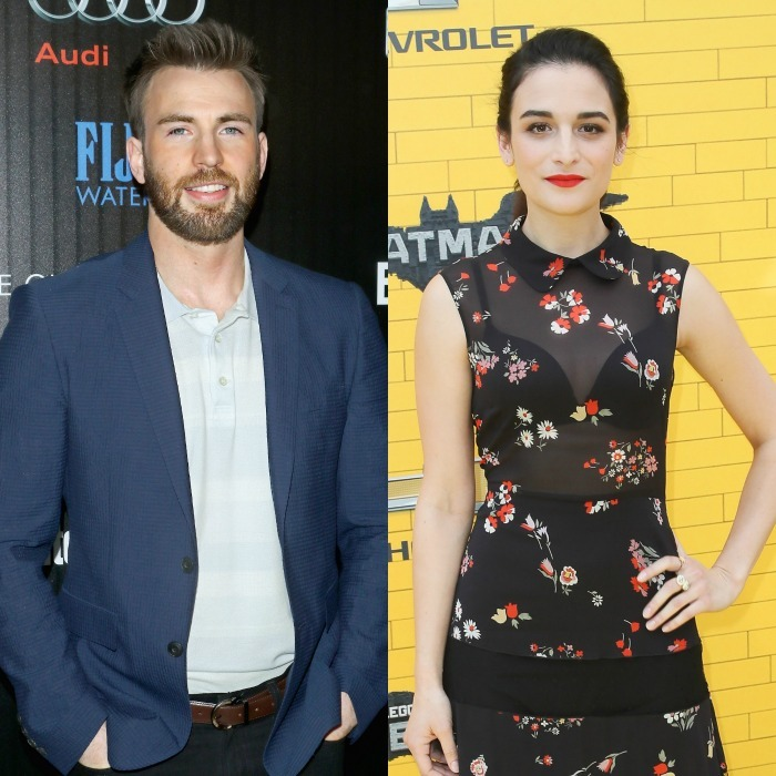 <b>Chris Evans and Jenny Slate</b>
