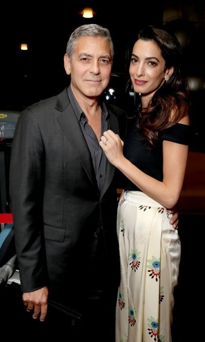 <b>George and Amal Clooney</b>