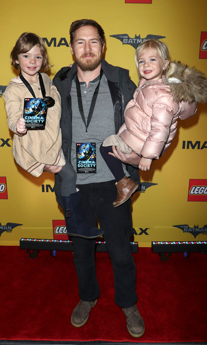 Will Kopelman enjoyed a date night in New York City with his and ex-wife Drew Barrymore's daughters, Olive (left) and Frankie (right). The trio were all smiles as they attended a screening for <I>The Lego Batman Movie</i>.