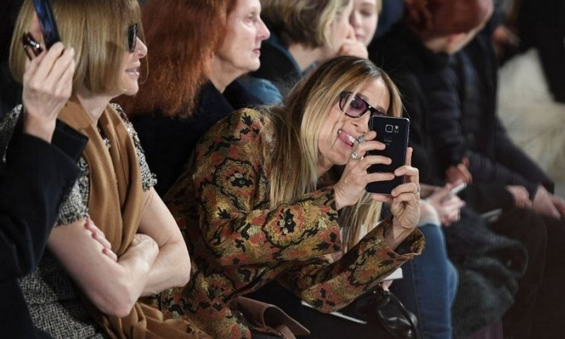 Sarah Jessica Parker liked what she saw during Calvin Klein's runway show.
