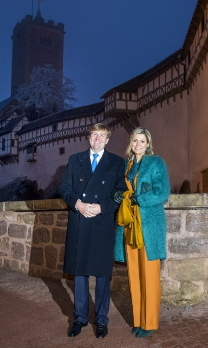 They kicked off their Germany visit with a colorful stop at Wartburg Castle. 