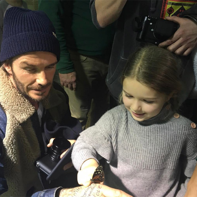 David Beckham enjoyed a day out in New York City with his kids. While Victoria was hard at work, the proud dad took Brooklyn, 17, Romeo, 14, Cruz, 11, and five-year-old Harper – to the Museum of Natural History. Lucky for us, he shared snaps of their family day on Instagram! Seen here, David showed a giddy Harper a butterfly at the museum. He wrote: