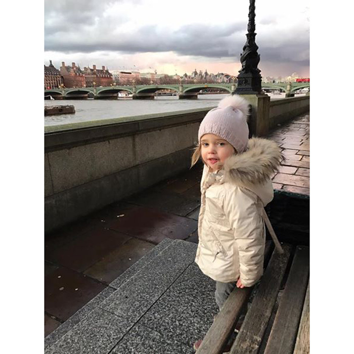 "Checking out London Town! ""Leonore and I exploring sights of London!"" Princess Madeleine captioned an adorable snapshot of her daughter in February.