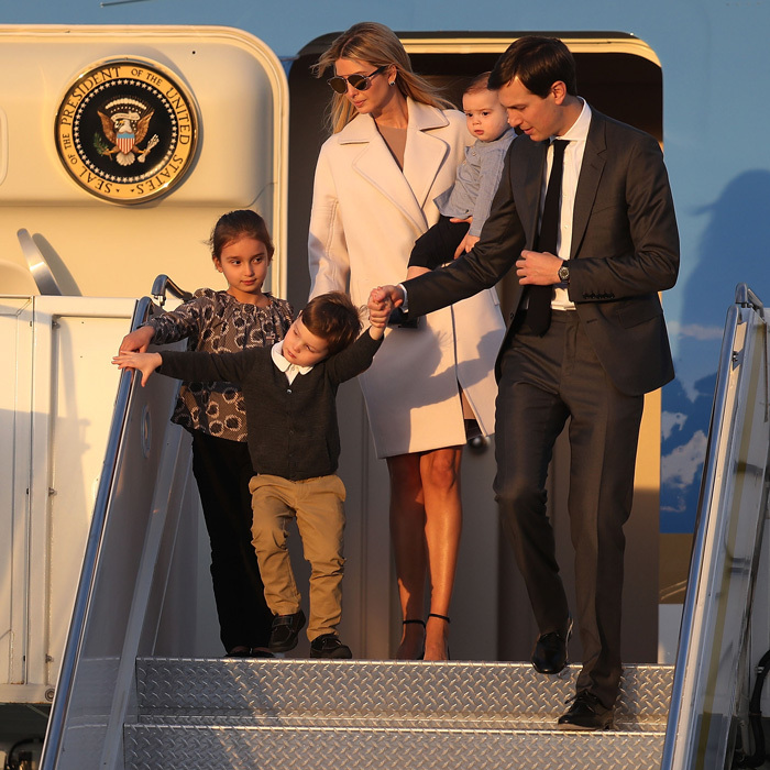 """Such a surreal moment descending the steps of Air Force One for the first time with my family,"" Ivanka noted of her February 10th family trip to Mar-a-Lago in Palm Beach, Florida. 