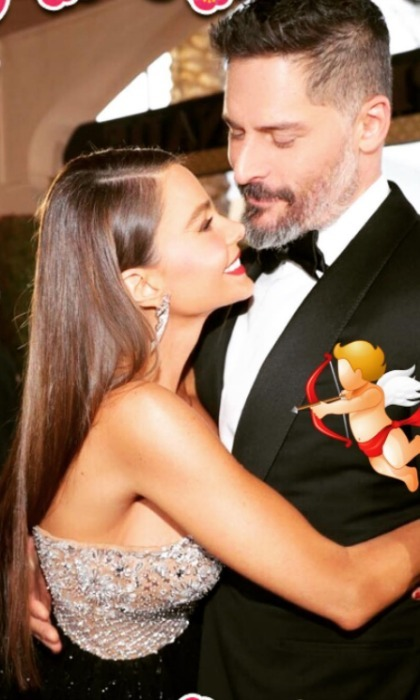 Sofia Vergara wished her husband Joe Manganiello a happy V-day with a throwback picture from the Golden Globes. 