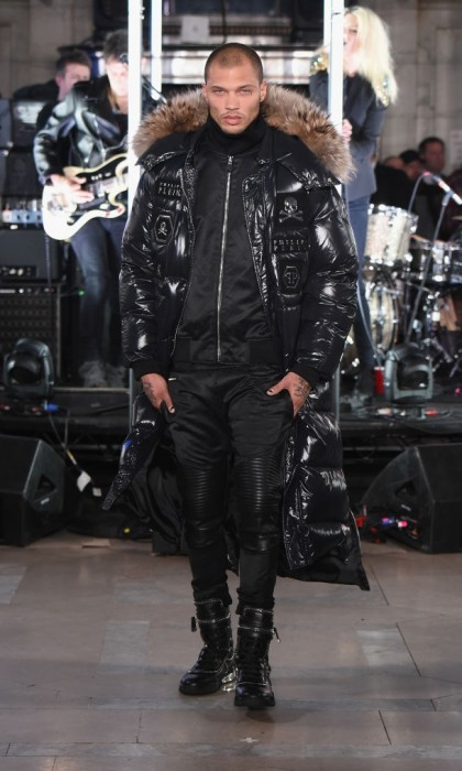 Jeremy Meeks is out of prison and on the runway. The blue-eyed model, who became an overnight sensation when his mug shot was released in 2014, made his debut for Philipp Plein.