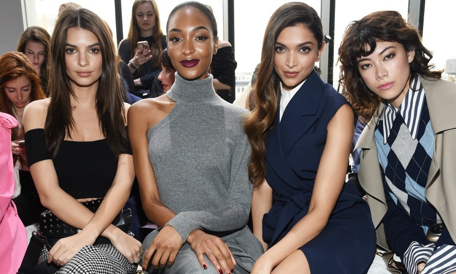 Emily Ratajkowski, Jourdan Dunn, Deepika Padukone and Hikari Mori were sitting pretty in the front row at the Michael Kors Collection Fall 2017 runway show. 