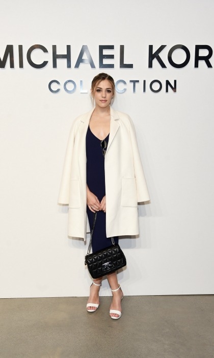 Sistine Stallone made a stylish appearance at the Michael Kors runway show. 