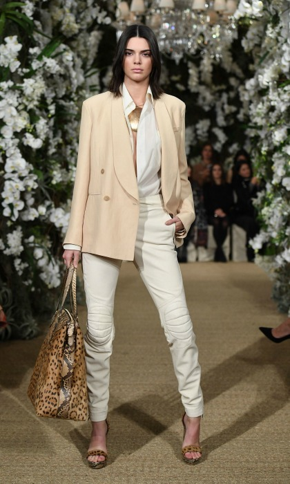 Kendall Jenner walked the runway during the Ralph Lauren fashion show. 