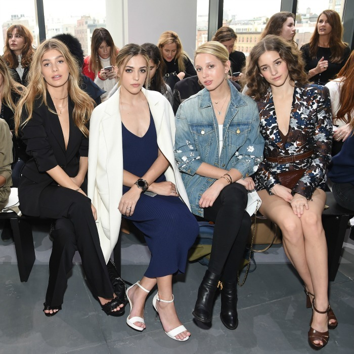 Princess Olympia shared the front row with Sistine Stallone at the Michael Kors runway show at New York Fashion Week. 